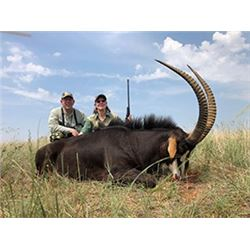 5 Day Sable, Gemsbuck, Blesbuck, Impala for 2 hunters in the NW Province of South Africa. Hunt can b