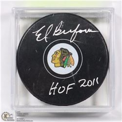 CHICAGO BLACK HAWKS ED BELFOUR HOF 2011 SIGNED