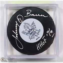 JOHNNY BOWER HHOF 76 SIGNED HALL OF FAME HOCKEY