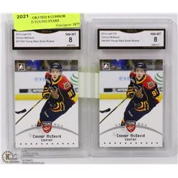 LOT OF 2 GRADED 8 CONNOR MCDAVID YOUNG STARS