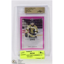 2015-16 LEAF JUHO LAMMIKKO 1/1 INCASED HOCKEY