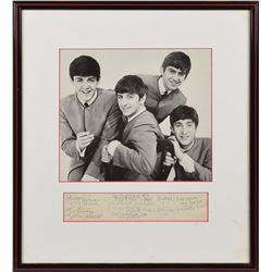 Beatles Signed 1962 Hotel Registry