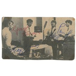Beatles 1963 Signed Newpaper Photo