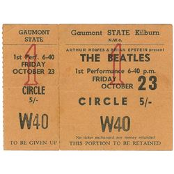 Beatles 1964 Gaumont State Ticket