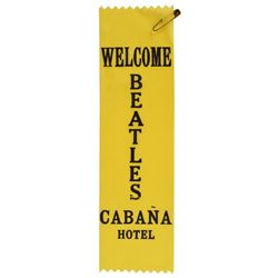 Beatles 1965 Cabana Hotel Staff Sash