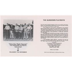 Apple Records Promo Leaflet for The Sundown Playboys