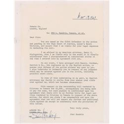 Jimi Hendrix Signed Document