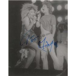 Mick Jagger and Tina Turner Signed Photograph