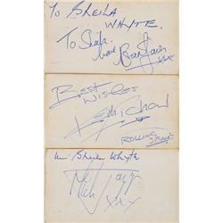 Rolling Stones Set of (3) Signed Business Cards