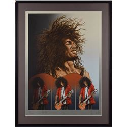 Ronnie Wood and Slash Signed Lithograph
