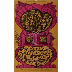 Doors Signed 1967 Fillmore Auditorium Signed Mini Poster