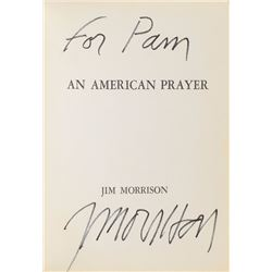 Jim Morrison Signed American Prayer Book