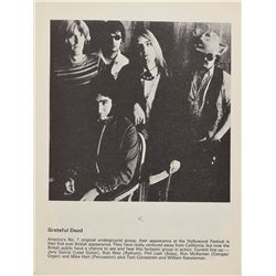 Grateful Dead 1970 UK Program