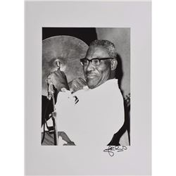 Jazz: Muddy Waters and Howlin' Wolf Oversized Photos Signed by Photographer John Rowlands