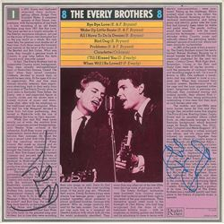 Everly Brothers Signed Album Sleeve