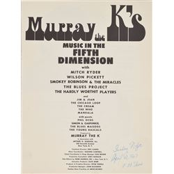 Murray the K 1967 Program: The Who and Cream