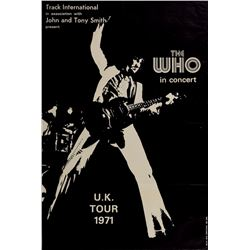 The Who 1971 UK Tour Poster