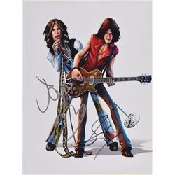 Aerosmith Pair of Signed Items