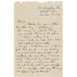 Jethro Tull: Ian Anderson Autograph Letter Signed