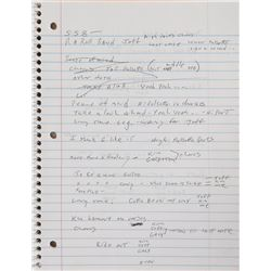 Brad Delp's Notebook with Handwritten Notes and Lyrics