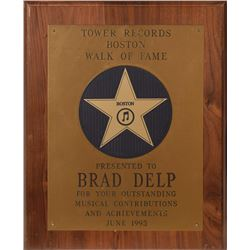 Brad Delp's Tower Records Walk of Fame Award