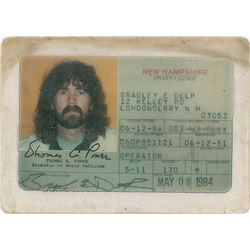 Brad Delp's New Hampshire Driver's License