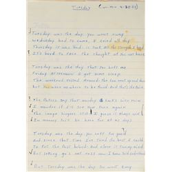 Brad Delp's Handwritten Lyric Notebook
