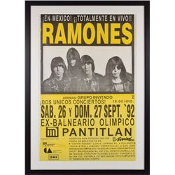 Ramones 1992 Mexican Poster