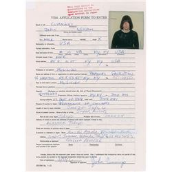 Ramones Set of (5) Signed Visa Applications