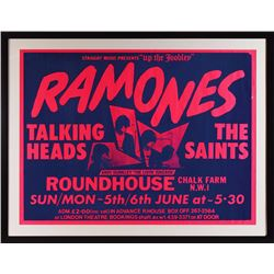 Ramones, Talking Heads, and The Saints London Poster