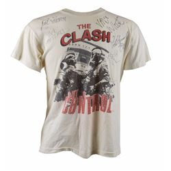 The Clash Signed 1984 'Out of Control' T-Shirt