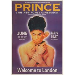 Prince 1992 Earls Court Concert Poster