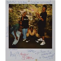 Tupac Shakur Signed Candid Photograph