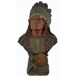 Cigar Store Indian Chief Bust Counter Top Display