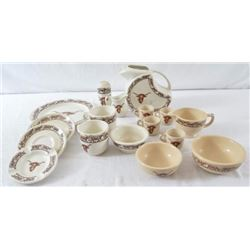 Wallace China Longhorn Pattern Dishes