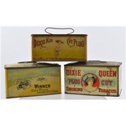 Dixie Queen, Dixie Kid, & Winner Tobacco Tins