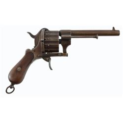 French 12 Shot Pinfire Revolver