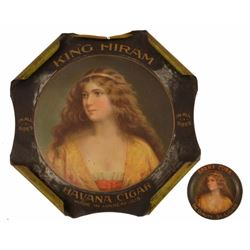 King Hiram Cuban Cigar Sign & Tip Tray