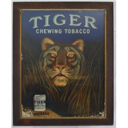 Tiger Tobacco Framed Ad