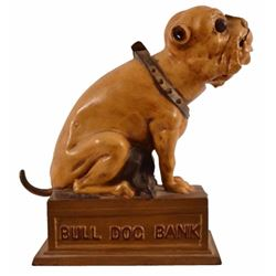 Bull Dog Cast Iron Mechanical Bank