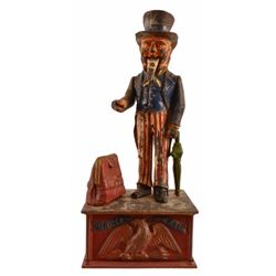 Uncle Sam Cast Iron Mechanical Bank