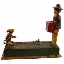 Monkey Bank Cast Iron Mechanical Bank