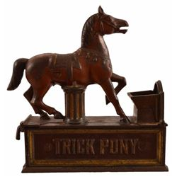 Trick Pony Cast Iron Mechanical Bank
