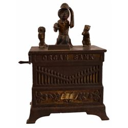 Organ Grinder Cast Iron Bank