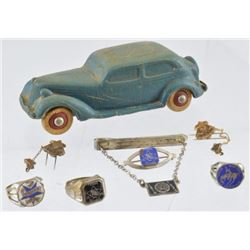 Texas Centennial Toy Car & Rings