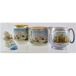 4 Texas Centennial China Souvenirs