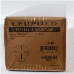 Leupold VX-III  3-10x-40mm Scope.