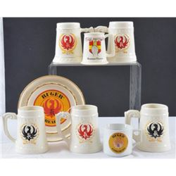 Collection of Vintage Ruger Mugs
