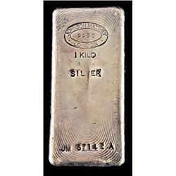Pure Silver Kilo Bar Johnson & Mathey London
