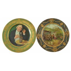 2 Whiskey Advertising Vienna Art Plates
